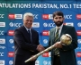 David Richardson presents ICC Test Championship mace to Misbah-ul-Haq