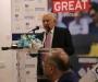 British High Commissioner to Pakistan Thomas Drew, Chairman PCB Shaharyar Khan and Chairman PSL Najam Sethi speaking before Pakistan Teams departure for England Tour
