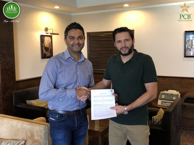 PCB Signs Two-year Partnership With Shahid Afridi