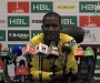 HBL PSL Post-Match Press Confrence: Darren Sammy of Peshawar Zalmi at Dubai International Cricket Stadium