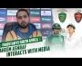 Faheem Ashraf interacts with media