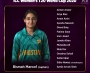 Pakistan squad for ICC Women's T20 World Cup announced