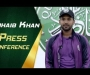 Zohaib Khan press conference at UBL Sports Complex