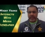 Waqar interacts with media