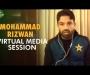 Mohammad Rizwan holds virtual media conference