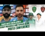 Fawad Alam and Keshav Maharaj review second day's play