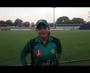 Sana Mir sharing her views on her record breaking 147 ODI wicket at Benoni