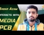 Babar Azam interacts with media