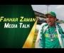 Fakhar Zaman media talk at Gaddafi Stadium, Lahore