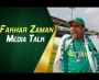 Fakhar Zaman media talk at Gaddafi Stadium, Lahore