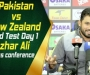 Pakistan vs New Zealand- 2nd Test Day one: Azhar Ali press conference at Dubai Stadium