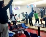 Team Pakistan went ten pin ball bowling as rain enforced cancellation of training session in Napier