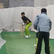 visually impaired cricket team practice session