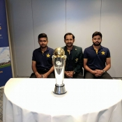 Pakistan Team with ICC Champions Trophy