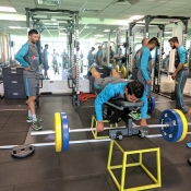 Pakistan Team gym session