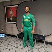 Pakistan team photo shoot and bat signing
