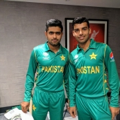 Pakistan team photo shoot and bat signing