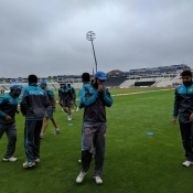 Warm up match against Australia
