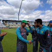 Fakhar Zaman getting his ODI cap
