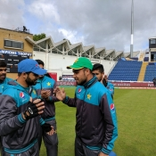 Fahim Ashraf getting his ODI cap