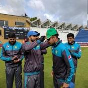 Fahim Ashraf getting his ODI cap