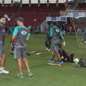 World XI and Pakistan team practice session