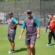 ODI players practice
