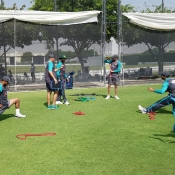 ODI team practice session