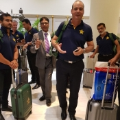 Pakistan and Sri Lanka teams arrival