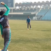 Pakistan team training session at GSL