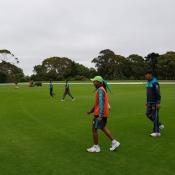 Pakistan U19 team training session at Sutcliffe oval Christchurch