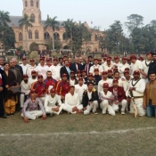 Chairman PCB Najam at the Old Ravians Association Festival cricket match