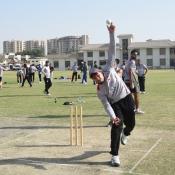 Hong Kong and UAE teama training session at Karachi