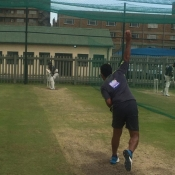 Pakistan team practice session at Willowmoore Park, Benoni