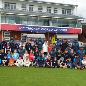 Members of Pakistan team ran coaching session at Taunton.