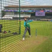 Pakistan team practice at County Ground Taunton
