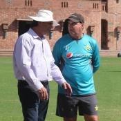 Pakistan Head Coach Mickey Arthur visited the U19 High Performance campt at NCA