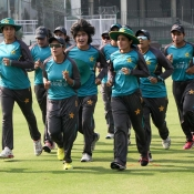Pakistan women practice session at Gaddafi Stadium, Lahore