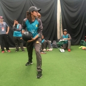 Pakistan Women Emerging Team practice session at NCC Colombo