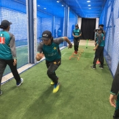 Pakistan Emerging Women team training session in Colombo.