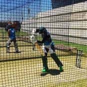 Pakistan Team practice session at Optus Stadium, Perth.