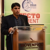Misbah-ul-Haq in a program organized by local cricket team