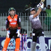 Nauman Anwar hits a six