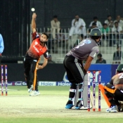 Saad Nasim deliver the ball