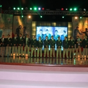 Pakistan team group photo during ceremony at Expo centre Lahore to honour the national team for bringing Asia Cup 2012 to Pakistan