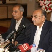 Chairman PCB Mr. Najam Sethi during press conference at Karachi