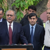Acting Chairman PCB Mr Najam Sethi press conference