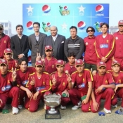 Group photograp of winner team of PCB pepsi cricket stars U-16 one day tournament 201