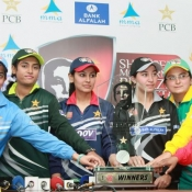 The Captains of all six participants holding the 1st SMBB Challenge Trophy
