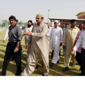 Chairman Pakistan Cricket Board Chaudhry Zaka Ashraf and Members of the  BOG visiting Garhi Khuda Bakhsh Cricket Stadium.